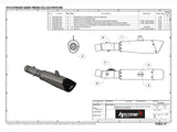 "HP CORSE BMW F800R (09/16) Slip-on Exhaust ""Evoxtreme Satin"" (EU homologated)"