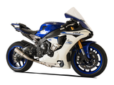 "HP CORSE Yamaha YZF-R1 (2015) Slip-on Exhaust ""GP-07 Satin"" (racing; with aluminum ring)"