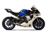 "HP CORSE Yamaha YZF-R1 (2015) Slip-on Exhaust ""GP-07 Black"" (racing; with wire mesh)"