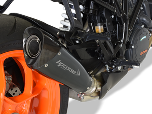 "HP CORSE KTM 1290 Super Duke R (2017 – ) Slip-on Exhaust ""Evoxtreme Black"" (racing only)"