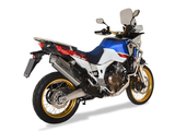 "HP CORSE Honda CRF1000L Africa Twin Slip-on Exhaust ""4-Track R Titanium"" (EU homologated)"