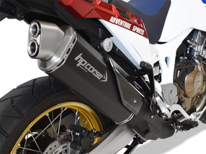 "HP CORSE Honda CRF1000L Africa Twin Slip-on Exhaust ""4-Track R Black"" (EU homologated)"