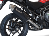 "HP CORSE Triumph Tiger 1200 (2018) Slip-on Exhaust ""4-Track R Black"" (EU homologated)"