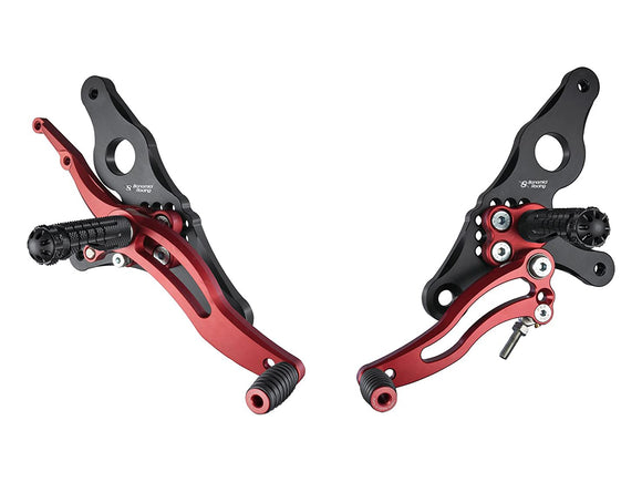 DH01 - BONAMICI RACING Ducati Hypermotard (07/12) / Multistrada (03/09) Adjustable Rearset