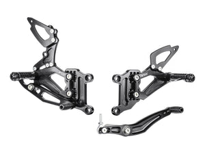 Y002R - BONAMICI RACING Yamaha YZF-R1 (04/06) Adjustable Rearset (reversed shift)