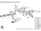 B001R - BONAMICI RACING BMW S1000R / HP4 (13/16) Adjustable Rearset (reversed shift)