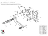 Y008 - BONAMICI RACING Yamaha MT-09 / Tracer / XSR900 Adjustable Rearset