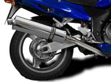 "DELKEVIC Honda CBR1100XX Blackbird Full Exhaust System 4-1 with Stubby 18"" Silencer"