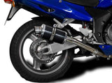 "DELKEVIC Honda CBR1100XX Blackbird Full Exhaust System with DS70 9"" Carbon Silencers"