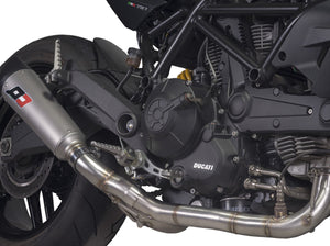 "QD EXHAUST Ducati Monster 797 Full Exhaust System ""Tri-cone"" (EU homologated)"