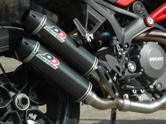 QD EXHAUST Ducati Monster 1200/821 Dual Exhaust System