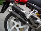 "SPARK Ducati Monster S4R / S4RS Slip-on Exhaust ""Round"" (EU homologated; carbon)"