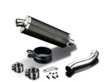 "DELKEVIC Ducati Monster 821 / 1200 Slip-on Exhaust Stubby 14"" Carbon"