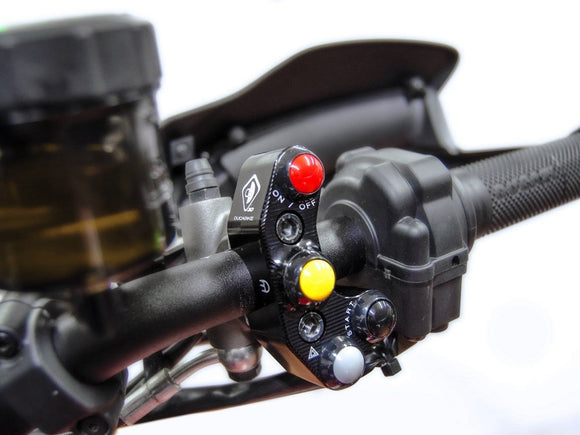 CPPI14 - DUCABIKE Ducati Brake Pump Bracket with Integrated Buttons (Brembo Radial/RCS)