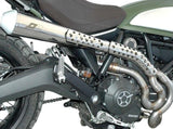 "QD EXHAUST Ducati Scrambler 800 Full Exhaust System ""MaXcone"" (high mount, polished; EU homologated)"