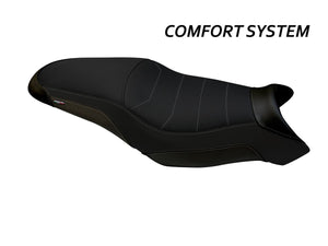 "TAPPEZZERIA ITALIA Yamaha Tracer 700 (16/19) Comfort Seat Cover ""Darwin Total Black"""