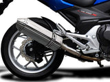 "DELKEVIC Honda NC700 / NC750 (12/19) Slip-on Exhaust 13"" Tri-Oval"