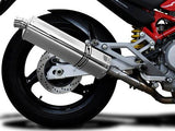 "DELKEVIC Ducati Monster 620 Slip-on Exhaust Stubby 17"" Tri-Oval"
