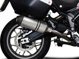 "DELKEVIC Ducati Multistrada 950 De-Cat Slip-on Exhaust 10"" X-Oval Titanium"