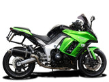 "DELKEVIC Kawasaki Ninja 1000 / Z1000 Full Exhaust System with Stubby 14"" Carbon Silencers"