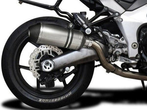 "DELKEVIC Kawasaki Ninja 1000 / Z1000 Full Exhaust System with 10"" Titanium X-Oval Silencers"