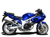 "DELKEVIC Suzuki SV650 (99/02) Full Exhaust System with High Mount SL10 14"" Silencers"