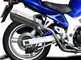 "DELKEVIC Suzuki SV650 (99/02) Full Exhaust System with High Mount 13"" Tri-Oval Silencers"
