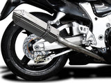 "DELKEVIC Suzuki GSXR1300 Hayabusa (99/07) Full 4-2 Exhaust System with 13"" Tri-Oval Silencers"