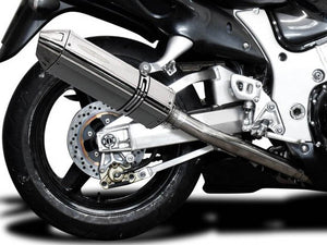 "DELKEVIC Suzuki GSXR1300 Hayabusa (99/07) Full 4-1 Exhaust System with 13"" Tri-Oval Silencer"