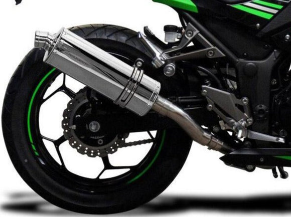 DELKEVIC Kawasaki Ninja 300 Full Exhaust System with Stubby 14