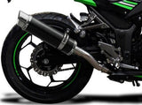 "DELKEVIC Kawasaki Ninja 300 Full Exhaust System with DL10 14"" Carbon Silencer"