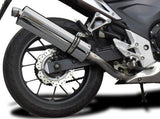 "DELKEVIC Honda CB500 / CBR500R Full Exhaust System with Stubby 18"" Silencer"