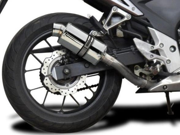 DELKEVIC Honda CB500 / CBR500R Full Exhaust System with SS70 9