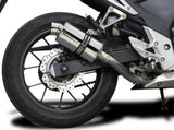 "DELKEVIC Honda CB500 / CBR500R Full Exhaust System with SS70 9"" Silencer"