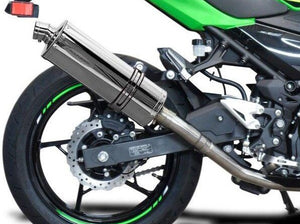 "DELKEVIC Kawasaki Ninja 400 / Z400 Full Exhaust System with Stubby 14"" Silencer"