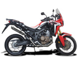 "DELKEVIC Honda CRF1000L Africa Twin (16/19) Full 2-1 Exhaust System with SL10 14"" Silencer"