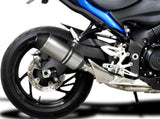 "DELKEVIC Suzuki GSX-S1000 Full Exhaust System with 10"" Titanium X-Oval Silencer"