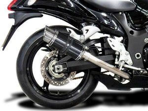 "DELKEVIC Suzuki GSXR1300 Hayabusa (08/20) Full 4-1 Exhaust System with Mini 8"" Carbon Silencer"
