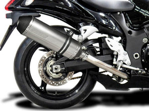 "DELKEVIC Suzuki GSXR1300 Hayabusa (08/20) Full 4-1 Exhaust System with 13.5"" X-Oval Titanium Silencer"