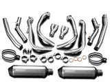 "DELKEVIC Suzuki GSXR1300 Hayabusa (08/20) Full De-Cat 4-2 Exhaust System with 13.5"" X-Oval Titanium Silencers"
