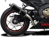 "DELKEVIC Honda CBR1000RR (17/19) Slip-on Exhaust Stubby 14"" Carbon"
