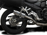 "DELKEVIC Suzuki GSX1250FA Traveller Full Exhaust System with Mini 8"" Silencer"