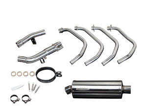 "DELKEVIC Suzuki GSX1250FA Traveller Full Exhaust System with Stubby 14"" Silencer"