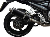 "DELKEVIC Suzuki GSF1250 Bandit Full Exhaust System with Stubby 14"" Carbon Silencer"