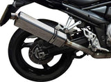 "DELKEVIC Suzuki GSF1250 Bandit Full Exhaust System with Stubby 17"" Tri-Oval Silencer"