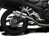 "DELKEVIC Suzuki GSX1250FA Traveller Full Exhaust System with SS70 9"" Silencer"