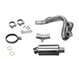 "DELKEVIC Kawasaki Versys 650 (07/14) Full Exhaust System with SS70 9"" Silencer"