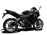 "DELKEVIC Honda CBR250R Full Exhaust System with Mini 8"" Carbon Silencer"