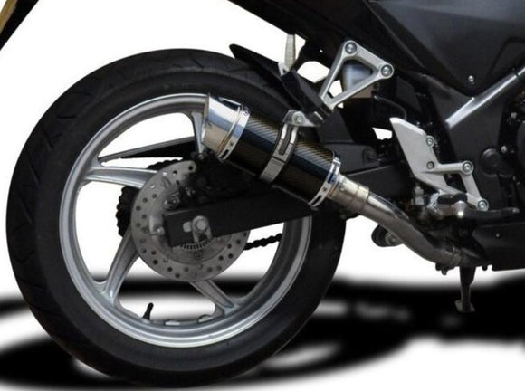 DELKEVIC Honda CBR250R Full Exhaust System with Mini 8