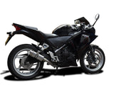 "DELKEVIC Honda CBR250R Full Exhaust System with Mini 8"" Silencer"